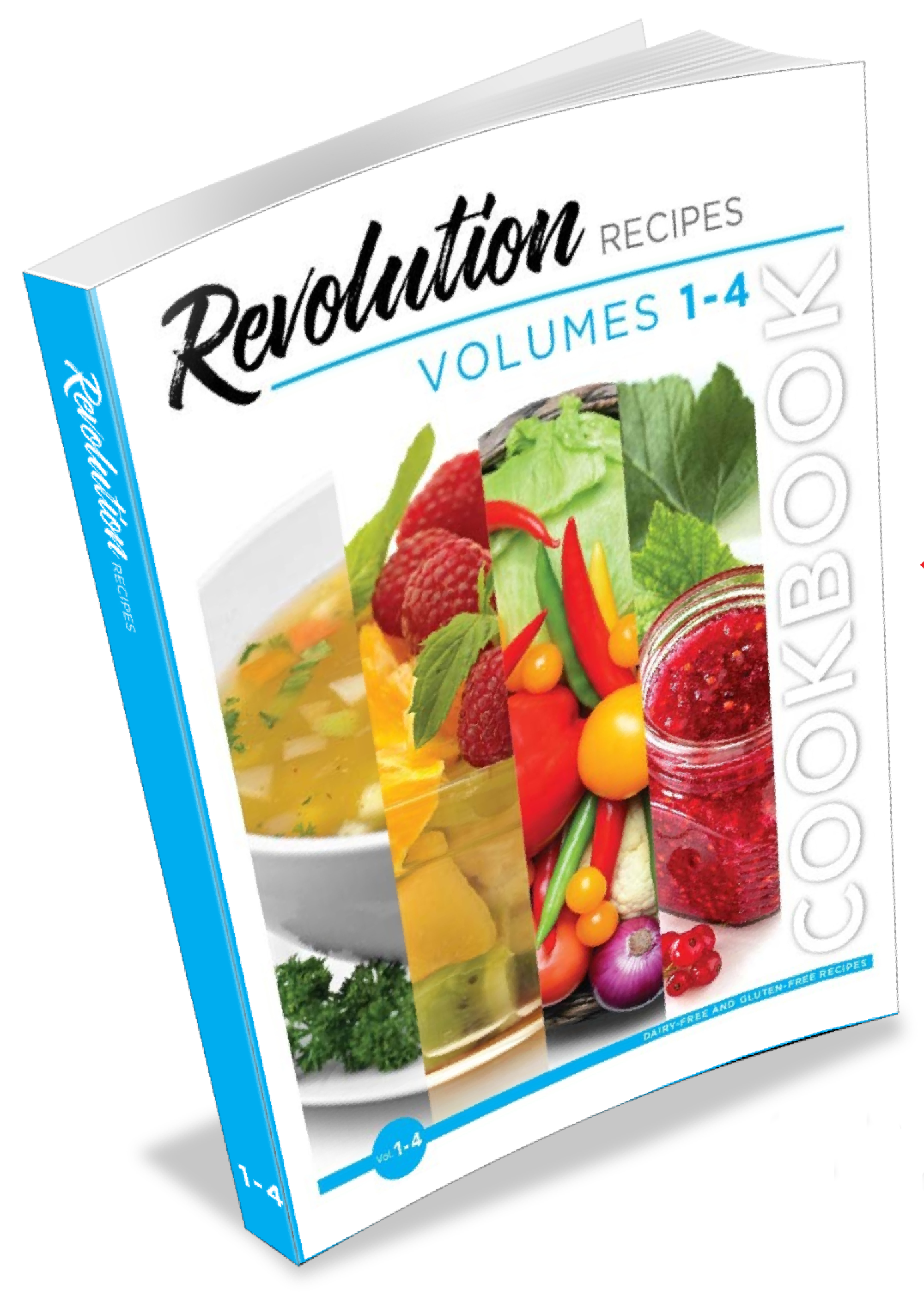 Revolution Recipes Cookbook Vol 1-4